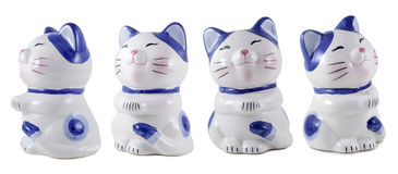 Blue cat - moneybox Royalty Free Stock Images
