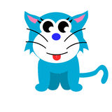 Blue Cat. Painting blue cat cute concept Royalty Free Illustration