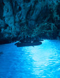 Blue cave Stock Photography