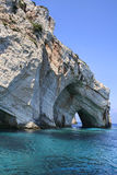 Blue Caves. In Zakynthos Greece royalty free stock photos