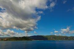 Blue caves along the shore of Zakynthos Royalty Free Stock Photo