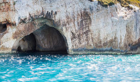 Blue caves seaside view, Zakynthos, Greece Stock Photos