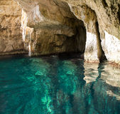Blue Caves stock image