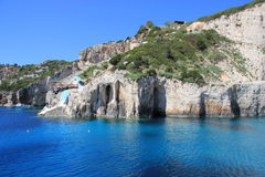 Blue Caves of Zakynthos Royalty Free Stock Image