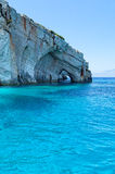 Blue caves of Zakynthos Stock Images