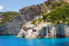 Blue caves on Zakynthos Royalty Free Stock Image