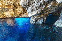 The Blue Caves in Zakynthos (Greece) Royalty Free Stock Photos