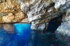 The Blue Caves in Zakynthos (Greece) Stock Images