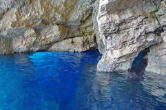 Blue Caves in Zakynthos, Greece Royalty Free Stock Images