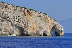 Blue Caves in Zakynthos, Greece Stock Photos