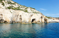 The Blue Caves in Zakynthos (Greece) Royalty Free Stock Photo