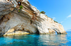 The Blue Caves in Zakynthos (Greece) Royalty Free Stock Image