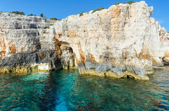 The Blue Caves in Zakynthos (Greece) Stock Photos