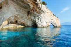 The Blue Caves in Zakynthos (Greece) Royalty Free Stock Images