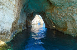 The Blue Caves in Zakynthos (Greece) Stock Photography