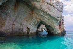 Blue Caves Zakynthos Greece Stock Photo