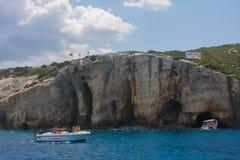 Blue Caves Zakynthos Greece Stock Photos