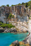 Blue caves on Zakynthos island Royalty Free Stock Photos