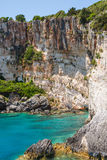 Blue caves on Zakynthos island Royalty Free Stock Images