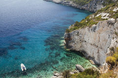 Blue caves on Zakynthos island, Greece Royalty Free Stock Image