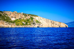 Blue caves in Zakynthos Royalty Free Stock Photo