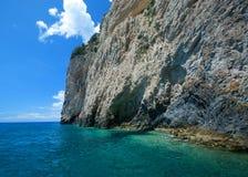 Blue caves on Zakynthos island Stock Photo