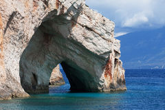 Blue caves on Zakynthos island Royalty Free Stock Images