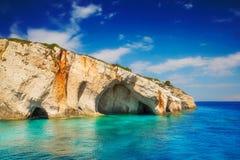 Blue caves, Zakynthos island Stock Photography