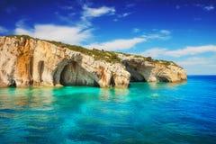 Blue caves, Zakynthos island Stock Image