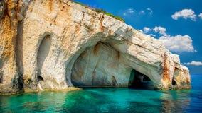 Blue caves on Zakynthos island, Greece. Stock Images