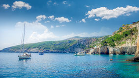 Blue caves on Zakynthos island, Greece. Stock Photography