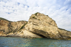 Blue Caves on Zakynthos island in Greece. Nature. Royalty Free Stock Photo