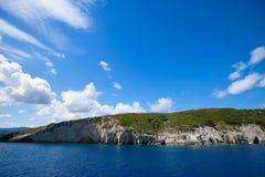Blue caves on Zakynthos island Stock Image