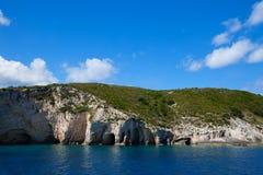 Blue caves on Zakynthos island Royalty Free Stock Photography