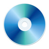 Blue CD. Blank blue compact disc vector Royalty Free Stock Photography
