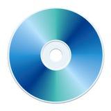 Blue CD. Blank blue compact disc vector