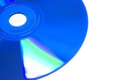 Blue CD. Closeup of a blue CD-R stock photos