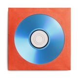 Blue CD With Case. Blue disc in Red Case Isolated on a White Background Royalty Free Stock Image