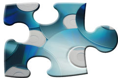 Blue CD Puzzle. Piece royalty free stock photography