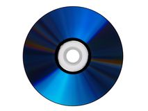 Blue cdrom isolated Royalty Free Stock Photos