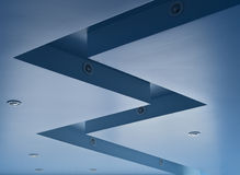 Blue ceiling. With halogen lamps Royalty Free Stock Image