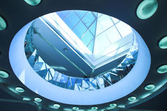 Blue ceiling with concentric circls Royalty Free Stock Photo
