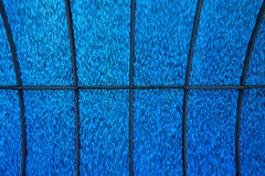 Blue Ceiling. Detail of a blue ceiling with a metal framework royalty free stock photography