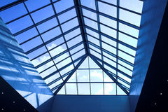 Blue ceiling in office Royalty Free Stock Image