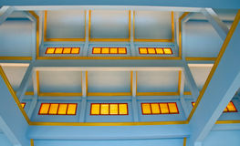 A blue ceiling structure Royalty Free Stock Images