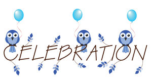 Blue celebration Stock Photography