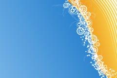 Blue celebration background with millions of stars Royalty Free Stock Image