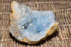 Blue celestite geode Stock Photography