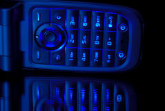 Blue Cell Phone Stock Images