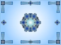 Blue celtic ornamental design Stock Image